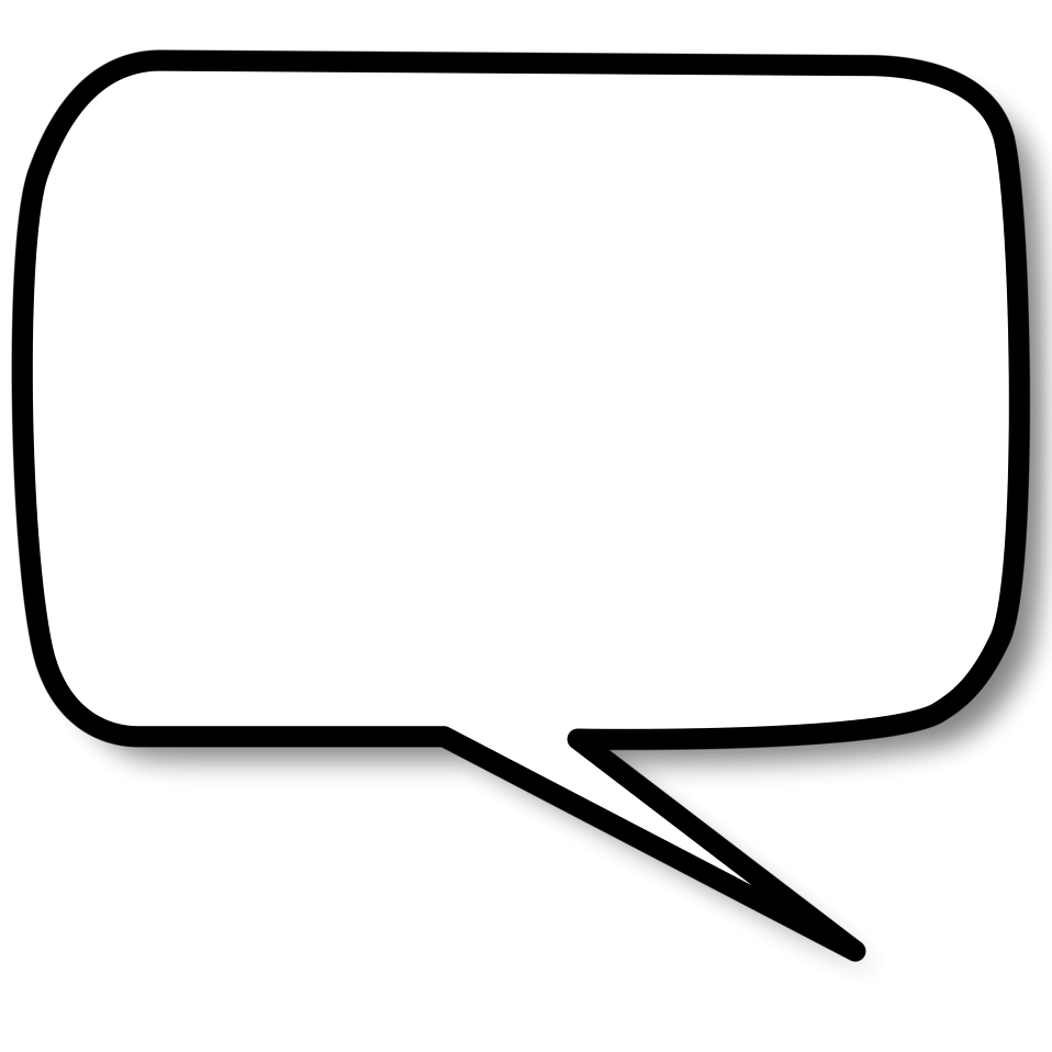 right speech bubble